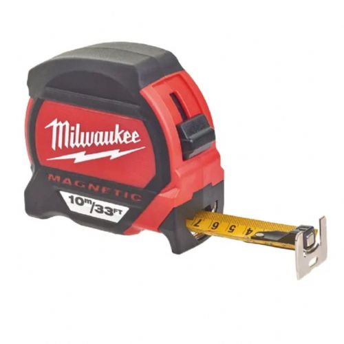 Milwaukee 48227233 Premium Magnetic Tape Measure 10m/33ft (Width 27mm)